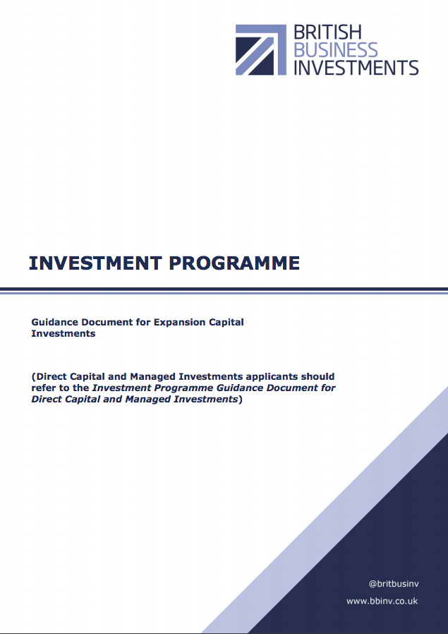 Guidance for Expansion Capital Investments – November 2017