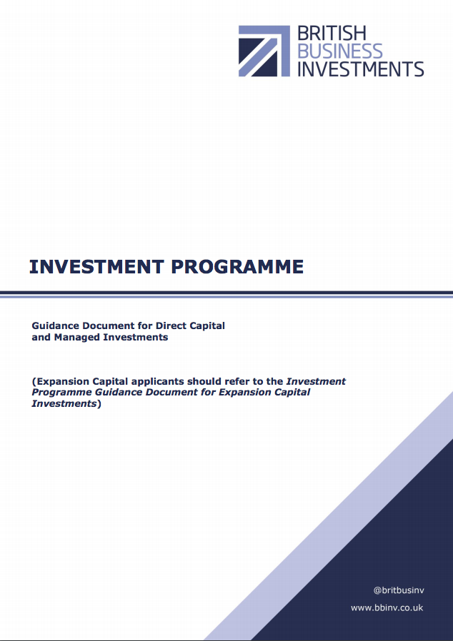 Guidance for Direct Capital and Managed Investments – November 2017
