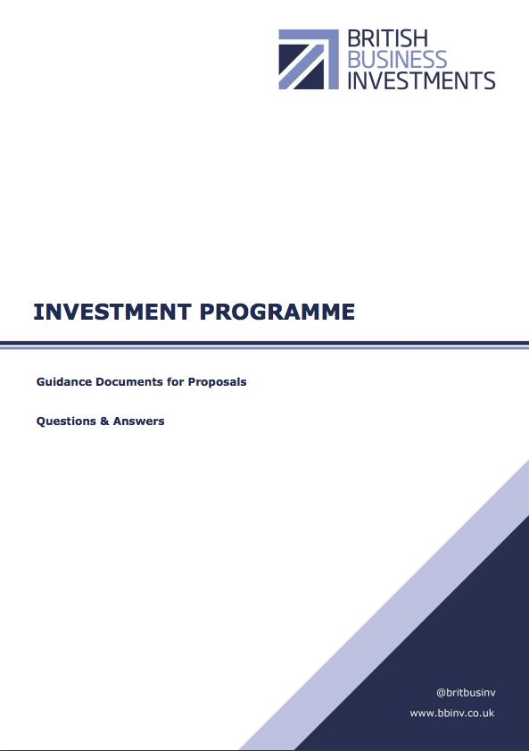 Investment Programme Q&A – November 2017